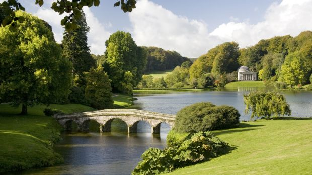 World-famous Stourhead gardens in the UK