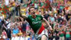 Donal Vaughan celebrates scoring his  goal against Donegal in 2013. Photograph: Cathal Noonan/Inpho