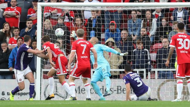 Randolph has enjoyed the beginning of the season in the Championship with Middlesbrough. Photograph: Owen Humphreys/PA Wire.