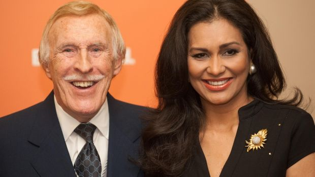 Bruce Forsyth with his wife, Wilnelia in 2005. Photograph: Dominic Lipinski/PA