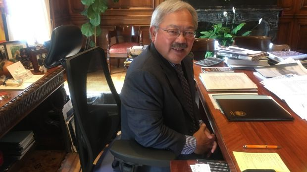 San Francisco mayor Ed Lee in his office in city hall. 'Trump wants to take us back to a different time – a time when people were not accepting of difference, of different views.'