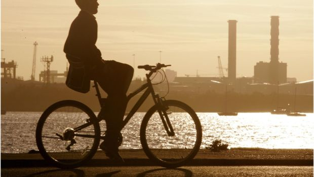 Why not try an evening cycle on Bull Wall, Dublin. Photograph: Dara Mac Dónaill