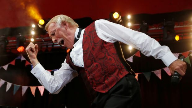 Bruce Forsyth on the Avalon Stage at the Glastonbury music festival in 2013. Photograph: Olivia Harris/Reuters