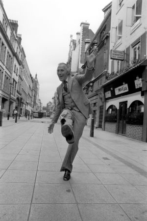 STRICTLY COME DANCING: Bruce Forsyth dancing in a West End street in 1977 ahead of his role in a musical. The veteran entertainer died on Friday aged 89. Photograph: PA/PA Wire