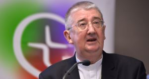Archbishop Diarmuid Martin: psychotherapist Vincent  Doyle has set up a website  to help people, such as himself, whose fathers were priests. The website has been funded by the archbishop. Photograph: Alan Betson