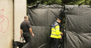 The scene of the search this week for the body of Trevor Deely in Chapelizod, Co Dublin. Photograph: Collins Photos