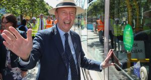 Minister for Transport, Tourism and Sport Shane Ross: well-meaning efforts at sparkling banter. Photograph: Maxwell's
