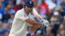 England's Alastair Cook: missed a shot at becoming England's sixth Test triple-centurion. Photograph: Paul Ellis/AFP/Getty Images