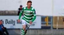 Gary Shaw scored two late goals to give Shamrock Rovers the points away to Galway United. Photograph:  Bryan Keane/Inpho