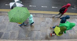 Wet weather in Dublin last month.Photograph: Dara Mac Dónaill / The Irish Times