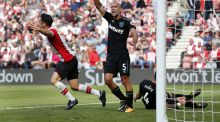 Lee Mason awards a   penalty to Southampton  at St Mary's . Photograph: Getty Images