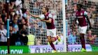 Conor Hourihane scored a hat-trick as Aston Villa beat Norwich City 4-2 at Villa Park. Photograph: Neville Williams/Aston Villa FC/Getty