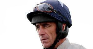 Davy Russell is facing an investigation after appearing to strike his mount at Tramore on Friday. Photograph: James Crombie/Inpho