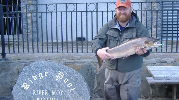 Henry Stagg, Northern Ireland, with his 5.2kg Ridge Pool salmon