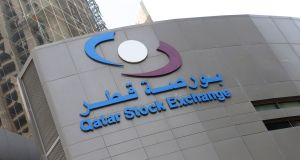 The Qatari Stock Exchange in Doha. Qatar's economy has been hit by the sanctions imposed by a Saudi-led Arab bloc. Photograph: AFP