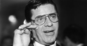 Photo of comedian Jerry Lewis taken 12 March 1984 at the Opera in Paris during the Pasteur Weizmann Gala evening. Photograph: JOEL ROBINE/AFP/Getty Images