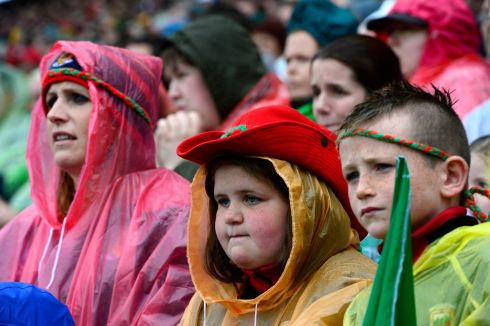 ALL-IRELAND CLASH: Mayo fans during their team's All-Ireland football semi-final against Kerry, at Croke Park. Photograph: Cyril Byrne/The Irish Times