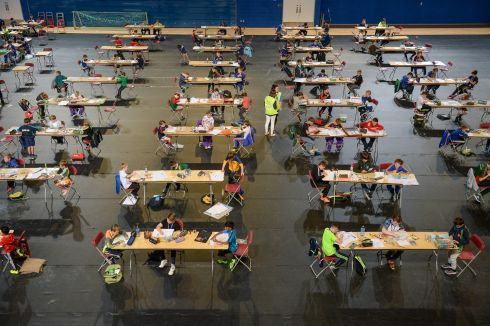 STATE OF THE ART: Art and model-making events take place at the Aldi Community Games, at the National Sports Campus in Dublin. Photograph: Cody Glenn/Sportsfile