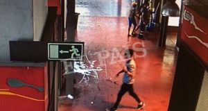 A watermarked CCTV frame grab provided by Spanish newspaper El Pais shows a suspect walking through La Boqueria market seconds after a van crashed into pedestrians in Barcelona, on August 17th. Photograph: Courtesy of El Pais via Reuters .