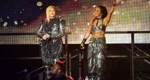 Tionne 'T-Boz' Watkins (left) and Rozonda 'Chilli' Thomas of TLC are on tour this year. Photograph: Matt Winkelmeyer/Getty Images