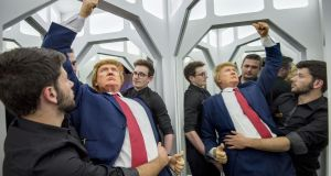 No more heroes any more: In real news, a fake Donald Trump gets installed in the new National Wax Museum in  Dublin earlier this year. Photograph: Brenda Fitzsimons