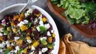 Ideal for packed lunch or picnic: roast beetroot with lentils and feta