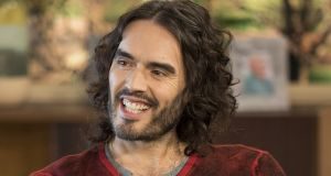 Russell Brand: his podcast is a mix of intellectual interrogations, social justice advocacy and  musings on his drug addict past. Photograph:  Ken McKay/ITV/REX