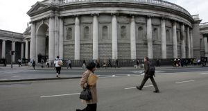 Bank of Ireland at College Green, Dublin. The bank's shares  shed 1.44%  to end the day at €6.99