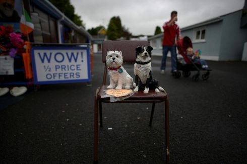 KNOCK NOVENA: Items for sale outside a shop during the novena in Knock, Co Mayo. Photograph: Clodagh Kilcoyne/Reuters