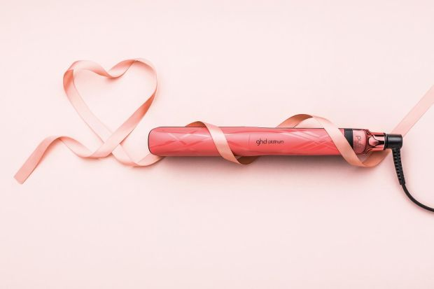 ghd Platinum Limited Edition Pink Blush Styler and Roll Bag (€215).