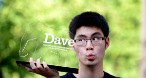 Ken Cheng has won the 10th annual award for Dave's Funniest Joke Of The Edinburgh Fringe. Photograph:  UKTV Dave/Martina Salvi/PA