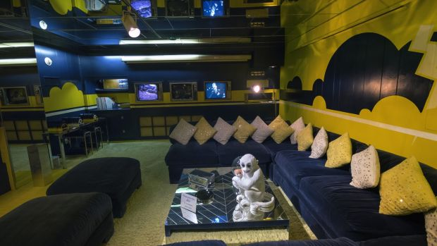 Elvis' TV room in Graceland. More than 20 million visitors have crossed the threshold of the home Elvis bought in 1957