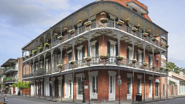 French Quarter streetscape in New Orleans, Louisiana