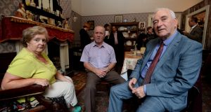 Former residents of 14 Henrietta Street: Jane Lynch, John Horrigan and Peter Brannigan. Photograph: Cyril Byrne