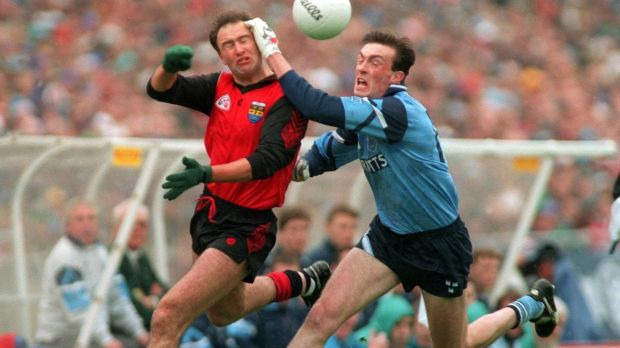 Conor Deegan: moved from full back to midfield berth in 1994 and Down went on to win the All-Ireland for the second time in four years. Photograph: Inpho