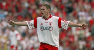 Cormac McAnallen: moved from centrefield to full back after the drawn Ulster final of 2003. Tyrone went on to win their first All-Ireland title. Photograph: Andrew Paton/Inpho