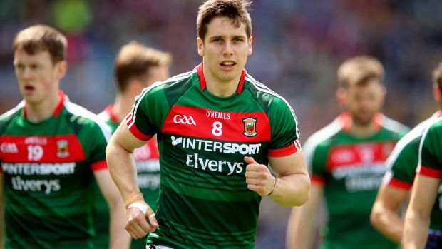 Lee Keegan: has been deployed in a man-marking role by Mayo but but it can also defuse the threat he poses in attack. Photograph: Ryan Byrne/Inpho