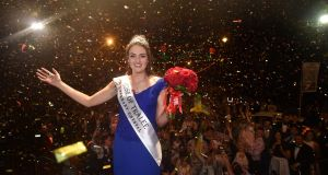The new Rose of Tralee Jennifer Byrne from Offaly celebrates  at the Midnight Madness party in Tralee. Photo  Domnick Walsh  Eye Focus