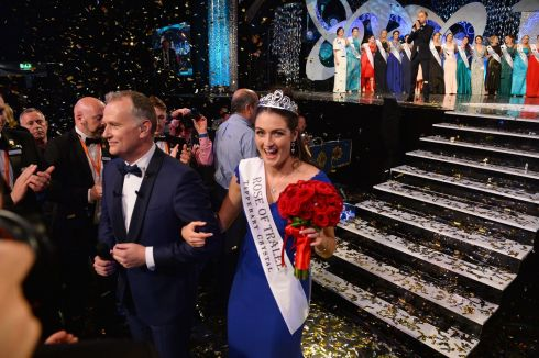 A delighted Jennifer Byrne who was selected as the 2017 Rose of Tralee Jennifer represented Offaly in this year's Festval.  Photo By Domnick Walsh Eye Focus