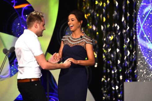 All that jive: Fermanagh Rose Stephanie Maguire dances with country singer Derek Ryan. Photograph: Domnick Walsh