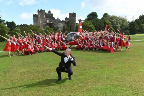 Dáithí Ó Sé from RTE was on hand at Malahide Castle in Dublin for the launch of this years 2017 Rose of Tralee . Photo Domnick Walsh Eye Focus