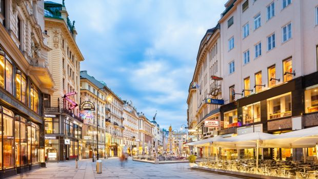 The Austrian capital Vienna is the second most liveable city in the world according to The Economist. Photograph: Getty Images