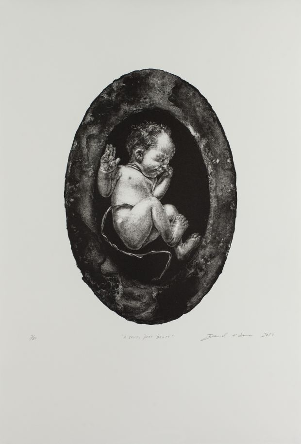 The frontispiece, A Child, Just Dropt, is based on the first photographs Jamie took of Olivia, minutes after she was born