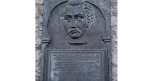 The plaque to Major Richard 'Dick' Dowling which was erected in Tuam Town Hall in 1998. Photograph: Wiki Commons