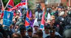 Far-right activists in Charlottesville, Virginia. 'Dark web' project Tor argues the free-speech rights that protect neo-Nazi website Daily Stormer protect the good too. Photograph: Andrew Caballero-Reynolds/AFP/Getty Images