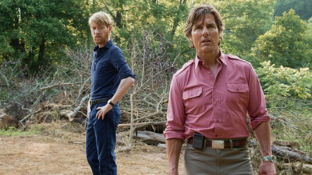 Domhnall Gleeson and Tom Cruise enjoying the great outdoors in American Made