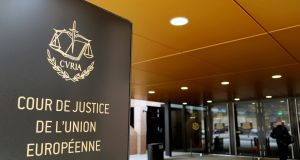 The entrance of the European Court of Justice in Luxembourg. Photograph:  Francois Lenoir/Reuters