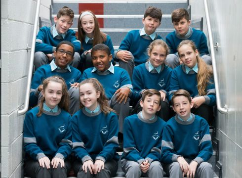 DOUBLE TAKE: Six sets of twins are pictured on their first day of first year at Coláiste and Gaelcholáiste Choilm, Ballincollig, Co Cork. Photograph: Cathal Noonan