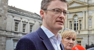 Sinn Féin's  David Cullinane favours coalition. Party  leader Gerry Adams and deputy leader Mary Lou McDonald have  signalled that the party's stance on coalition could change. Photograph: The Irish Times