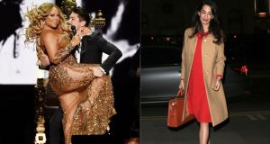 "Mariah Carey, left, ""too fat""; and Amal Clooney, right, ""too thin"""